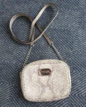 Tasche Michael Kors grau silber Schlangenprint Umhängetasche