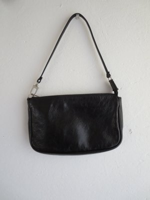 Vintage Mini sac noir cuir