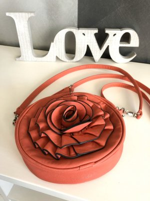 Tasche mit 3D-Rosenblüte • hellrot