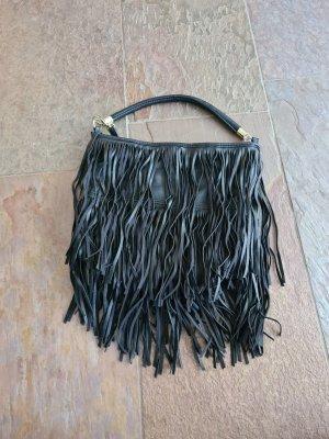 H&M Basic Tas met franjes zwart-goud