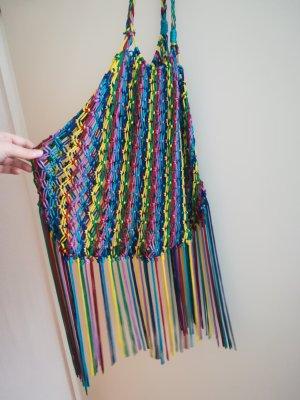 Bolso de flecos multicolor