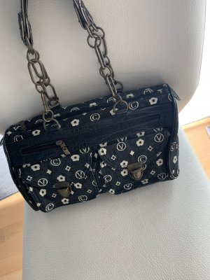 Tasche mit Ketten Handtasche Jeansstoff Look