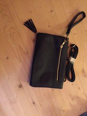 C&A Clutch black leather