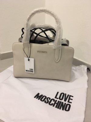 Tasche neu Love moschino Mode Blogger shopper Handtasche beige schwarz