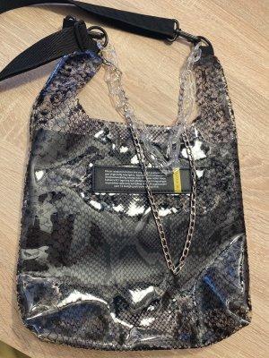 100% Fashion Handtas zwart-grijs