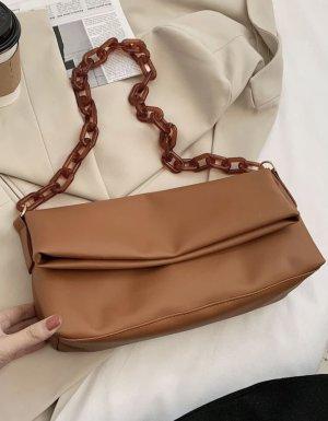 100% Fashion Sac à main brun