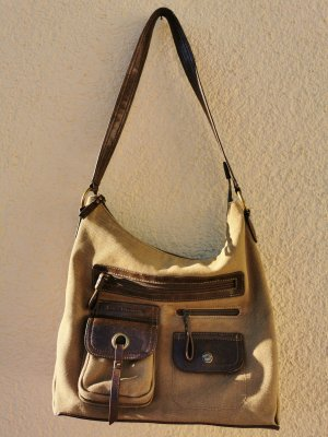 Canvas Bag brown-olive green