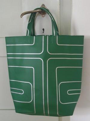 Torba z klapą zielony-srebrny