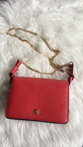 Tasche rot Zara gold Käfer Umhängetasche