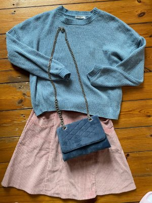 Tasche samt blau grau Mango