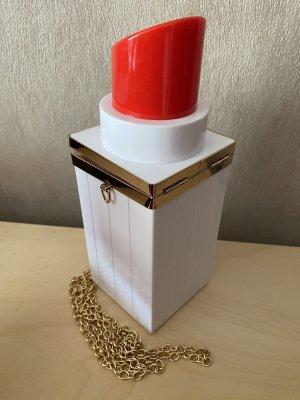100% Fashion Torebka mini biały-czerwony