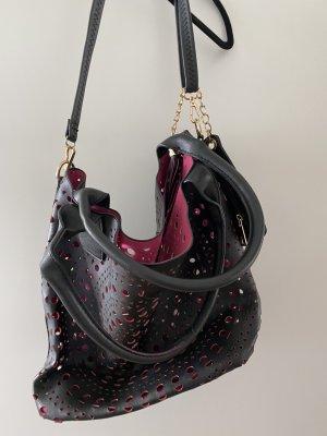 Borsellino nero-rosa