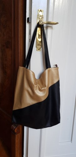A Pouch Bag black-gold-colored