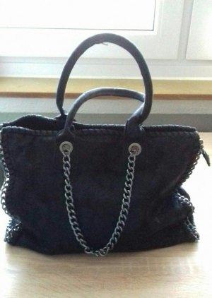 Tasche, schwarz / silber