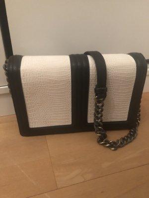 H&M Crossbody bag white-black
