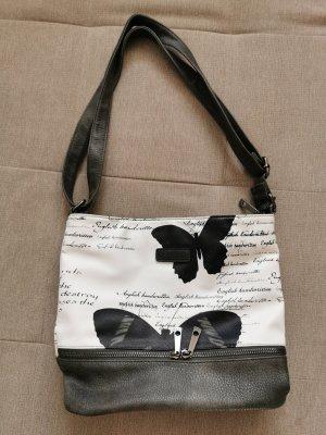 Casa di Nova Shoulder Bag black-white mixture fibre