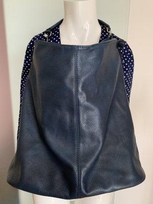 Tasche Shopper College Handtasche in blau-grau