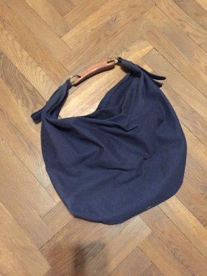 Zara Buideltas donkerblauw Linnen