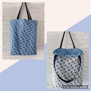 Tasche Stoffbeutel Shopper maritim Einkaufstasche