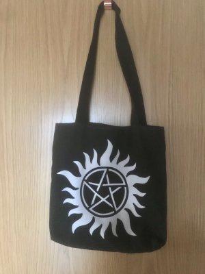 Stoffen tas zwart-wit