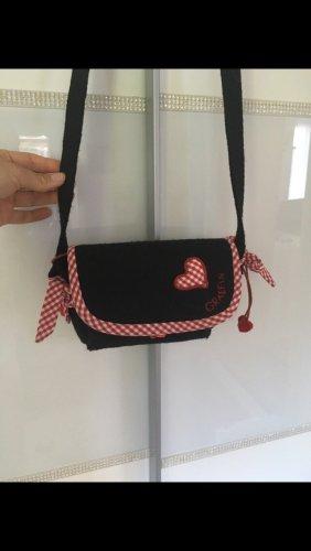 Tasche Trachtentasche in schwarz rot aus Filz