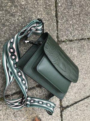Tasche Umhängetasche Handtasche Leder neu Tannen grün Vintage Look