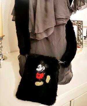 Tasche Umhängetasche Plüsch Fake Fur Mickey Mouse NEU