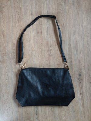 Tasche Umhängetasche schwarz Kunstleder