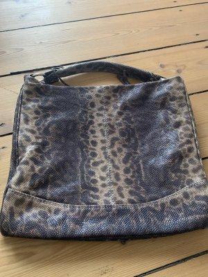 abro Handbag black brown-light brown leather