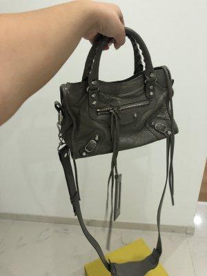 Balenciaga Crossbody bag grey-silver-colored leather