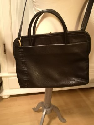 Bernd Berger Handbag black-gold-colored leather