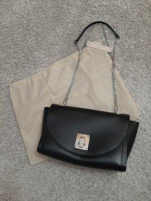 Coccinelle Gekruiste tas zwart-zilver Leer