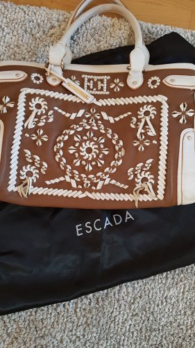 Escada Sac Baril blanc-brun