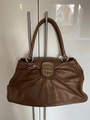 Hugo Boss Shoulder Bag cognac-coloured-brown leather
