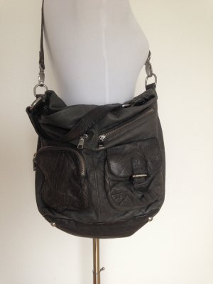 Liebeskind Crossbody bag green grey leather