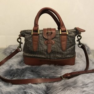 Liebeskind Handbag brown red-anthracite leather