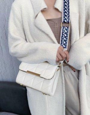 100% Fashion Borsetta bianco