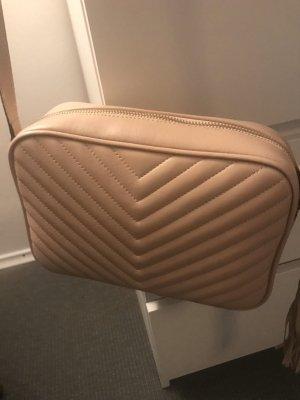 Mini sac rose chair cuir