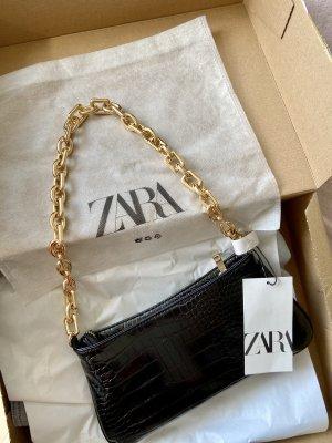 Tasche Zara mit animalprint und Kette Gold