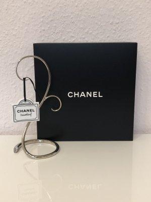 Chanel Porte-clés blanc-noir