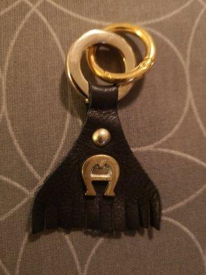 Breloczek do kluczy czarny-złoto