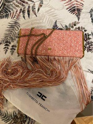 Elisabetta Franchi Kopertówka w kolorze różowego złota-różowy