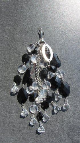 Porte-clés argenté-noir matériel synthétique