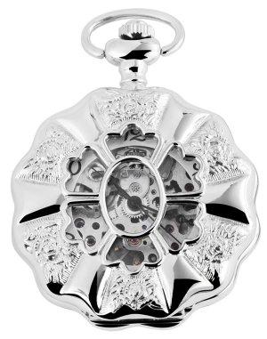 Reloj con pulsera metálica gris claro metal