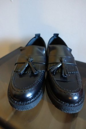 Fred Perry Mocasines negro Cuero