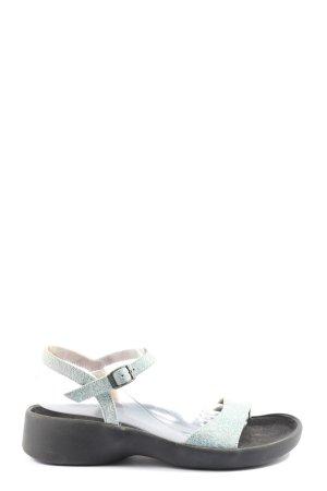 Tatami Sandales confort argenté-noir style décontracté