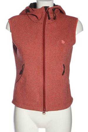 Tatonka Hooded Vest red flecked casual look