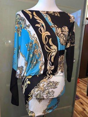 Tatu Tunika Kleid in gr 38 Vintage Multicolour Strech Muster