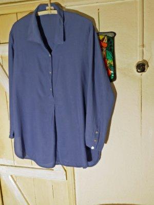 Taubenblaue Miss H Vintage Tunikabluse Grösse M