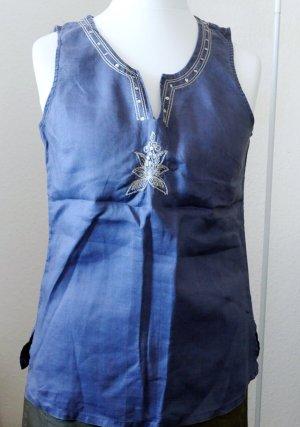 B.young Tunique-blouse bleuet-bleu azur ramie